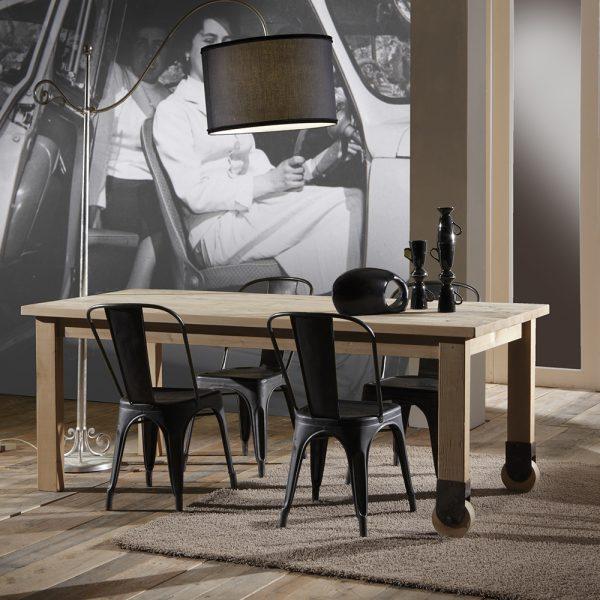 Tavolo con ruote in stile classico Francomario