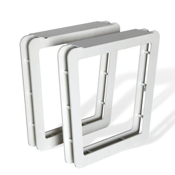 Coppia basamenti in metallo per tavolo