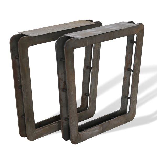 Coppia basamenti per tavolo in ferro
