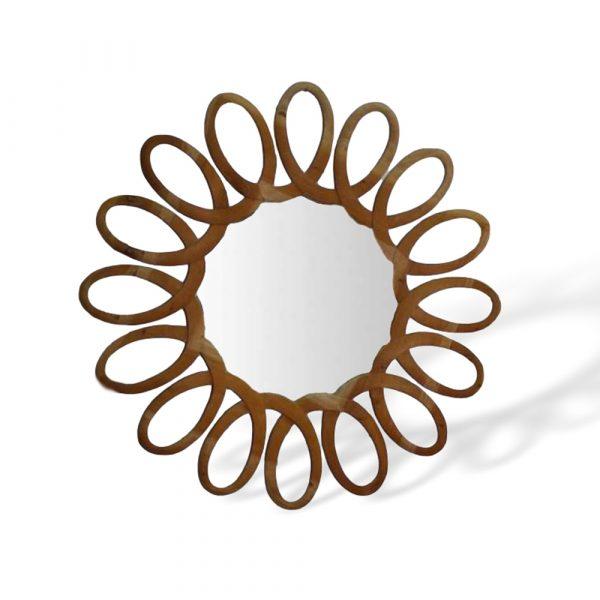 Cornice intagliata con specchio Francomario