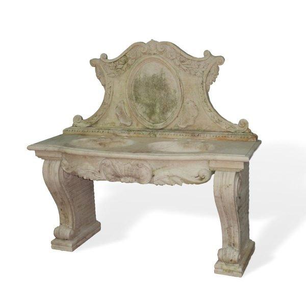 Lavello in marmo completo di 2 fori e alzata Francomario