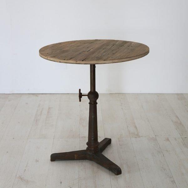 Piano rotondo per tavolino in abete antico