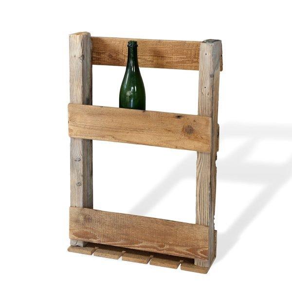 Portabottiglie in legno antico Francomario