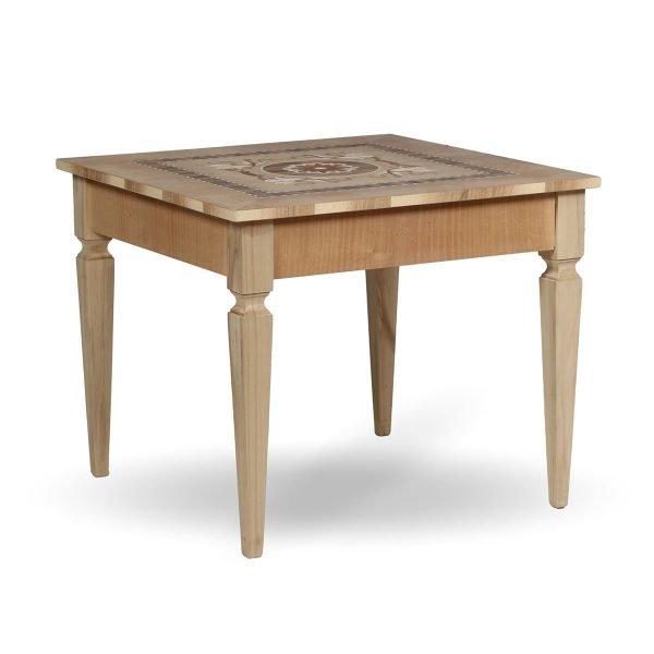 Tavolino intarsiato Francomario