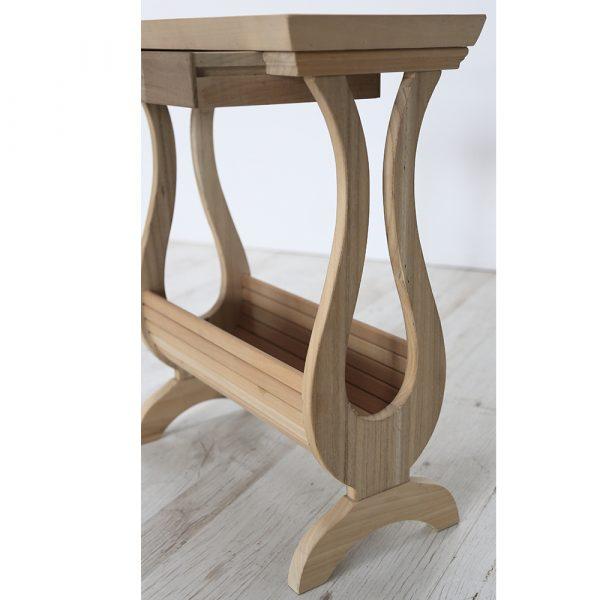 Tavolino portariviste in stile classico Francomario