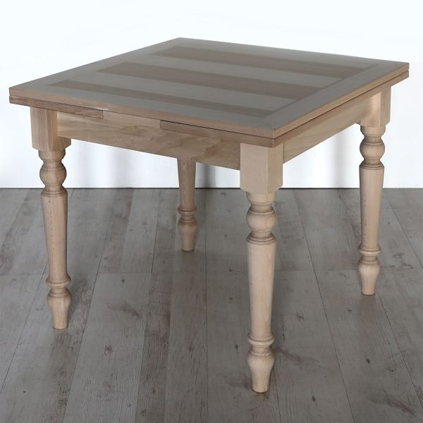 Tavolo quadrato allungabile in legno Francomario