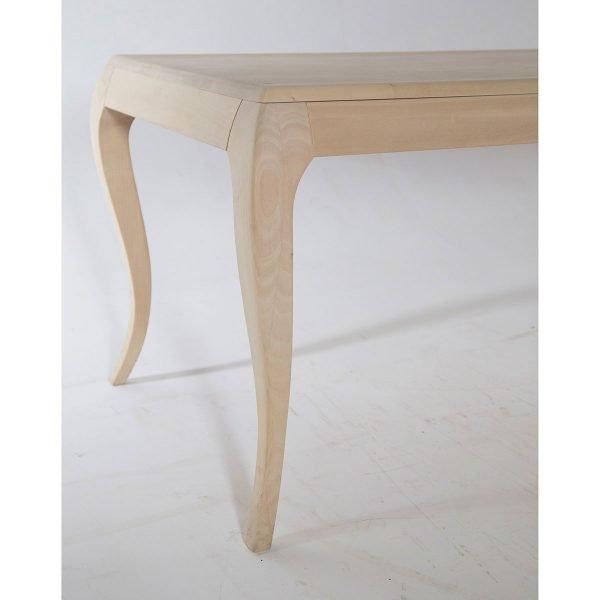 Tavolo rettangolare sagomato '700 in legno Francomario