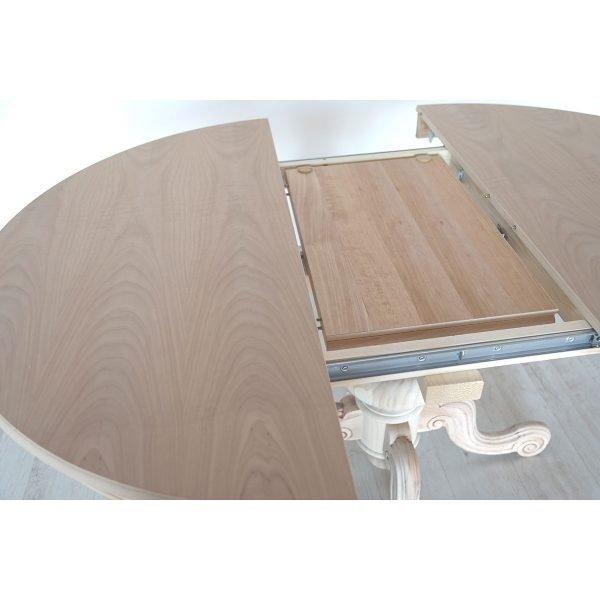 Tavolo rotondo allungabile in legno Francomario